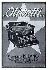 OLIVETTI MACCHINA DA SCRIVERE M20 IVREA  UFFICIO FILIALE MILANO 1922