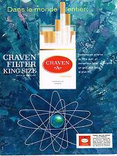 PUBLICITE ADVERTISING 114  1964  CRAVEN A   cigarettes