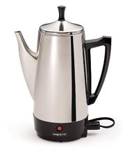 Vintage Percolator Electric 12Cup Stainless Steel Tea Coffee Maker Fast Brew NEW