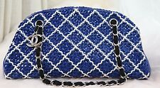 VERIFIED Authentic Chanel Patent Leather Woven Just Mademoiselle Bowling Bag