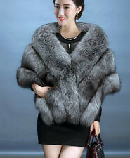 Upscale Womens Faux Mink Fur Shawl Shrug Weddings Wrap Cape Evening Bolero Coat