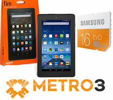 New Amazon Kindle FIRE 8GB + 16GB Tablet Ereader Dual Cam w Glorious IPS Display