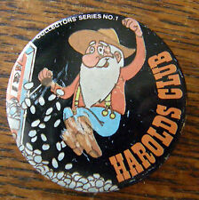 VINTAGE 1980 HAROLDS CLUB FIRST IN A SERIES PIN BACK SOUR DOUGH HITS JACKPOT