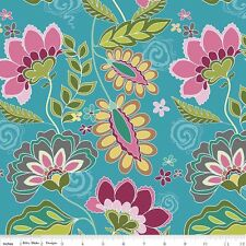 Riley Blake Designs Fabric. Fantine Main in Blue. By The FQ