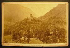 Photo c 1900 vue de La Tour de Castel-Vielh Luchon Photographie ancienne