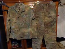 SET ISSUED USGI  MULTICAM SHIRT PANT US ARMY  SIZE LARGE SHORT  LS
