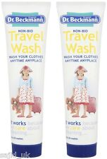 2x Dr Beckmann Non-Bio Travel Holiday Clothes Wash 100ml - 20 Washes - TWIN PACK