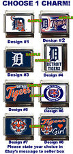 Detroit Tigers Custom Italian Charm Tigers Girl! World Series charm, choose!