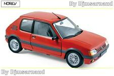 NEW Peugeot 205 GTI 1.6 de 1988 Vallelunga Red NOREV - NO 184853 -- Echelle 1/18