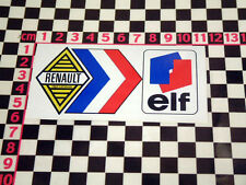 French Elf Rear Screen Decal Renault 10 12 14 16 17 5 4L 8 Estafette Autocollant