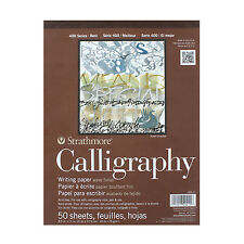 Strathmore Calligraphy Writing Paper Pad, Woven Finish – 400 Series, 50 Sheets