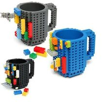 DIY Creative Build-on Brick Mug Building Blocks Coffee Cup Block Puzzle Mug 12oz