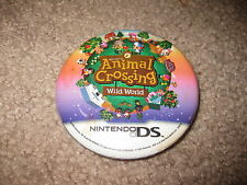 Promo Button Pin - Nintendo DS - Animal Crossing Wild World