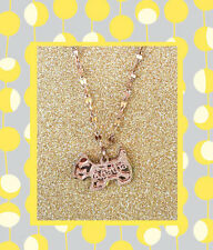 "CC20070 - ""rose gold"" pendant with shimmering dog stainless steel pendent"