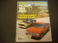 Pickup Van & 4WD Magazine November 1982 Custom Street Ranger and S-10 Nitrous