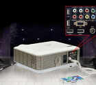 HOME THEATER MULTIMEDIA 3D 4500 LED lumens USB HDMI PROJECTOR HD 1280*800P Grey