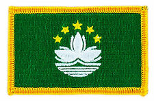 FLAG PATCH PATCHES MACAO MACAU  IRON ON EMBROIDERED SMALL