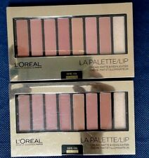 Loreal Colour La Palette Lip Lipstick Cream Matte Highlighter Nude 03 Pack of 2