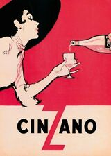 Collection CINZANO VINTAGE POSTER ART PRINT 50 x 70 bar memorabilia photo