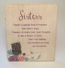 Life's A Hoot Sisters Plaque Birthday Gift Ideas for Sister & Her