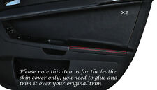 RED STITCH 2X FRONT DOOR CARD TRIM SKIN COVER FITS MITSUBISHI LANCER EVO X 10