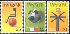 Belgium 1990 Sport/Games/Football/Disabled Basketball/Special Olympics 3v n43247