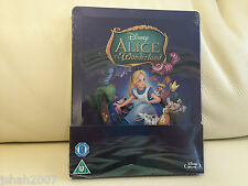 Disney Alice In Wonderland zavvi Exclusivo Steelbook Blu Ray ** Nuevo Y Sellado **