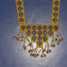 Belly Dance ATS tribal NECKLACE Afghani Kuchi 803n2