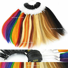 Pre Bonded Remy Human Hair Univeral Hair Extensions Color Ring Chart 9 inch #981