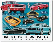 Ford Mustang Past & Present Metal Sign   410mm x 320mm   (ga)