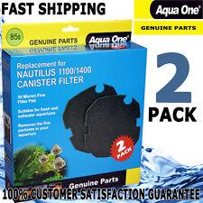 Aqua One Aquarium Nautilus Canister Filter Fine 35ppi Pad Media 1400 1100 2pk