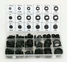125pc Grommet Set Rubber Blanking open/closed blind Grommets assorted sizes / UK