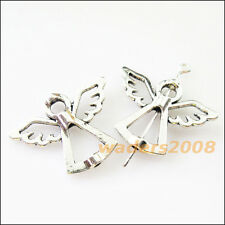 6 New Charms Angel Wings Spacer Frame Beads 22x29mm Tibetan Silver