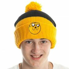 ADVENTURE TIME JAKE black and yellow cuffed beanie hat