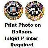 "NEW 21"" OVER THE HILL My Photo Balloon PERSONALIZED Metallic Mylar Foil Birthday"