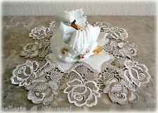 "ROSES JUBILEE  15"" Lace Doily   Doilies  Rose Flower Floral"