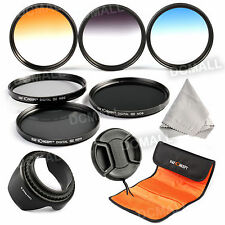 58mm Lens Filter Kit ND2 ND4 ND8 ND Graduated Color Hood Cap For Canon 18-55mm