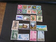 NEW ZEALAND, SCOTT # 382-399(18)+401-404(4),1967-70 PICTORIAL DEFINITIVE USED