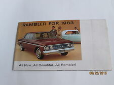Rambler  1963   All New...All Beautiful...All Rambler!  dealer sales brochure