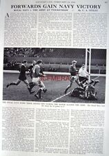 """""""NAVY v. THE ARMY AT TWICKENHAM RUGBY"""" - 1966 Magazine Article (1-Sided Cutting)"""