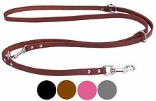 Black Multifunctional Leather Dog Leash European Lead 4 5 6 ft long Brown Pink