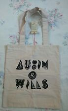 BNWT Large Limited Ed Aubin & Wills Strong Cotton Canvas Shoulder Tote Bag Xmas