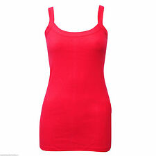 NEW WOMEN PLAIN RIB TOP STRETCHY SUMMER RIBBED VEST T- SHIRT PLUS SIZES 8 - 24
