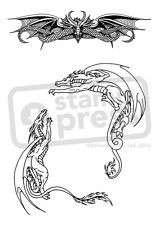 A6 'Dragon Corner' Unmounted Rubber Stamp (SP00006042)