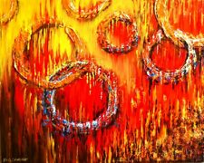 Original Abstract Painting on Canvas: Spit Fire With Your Words