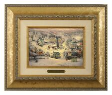 Thomas Kinkade St Nicholas Circle - Brushwork (Gold Frame)