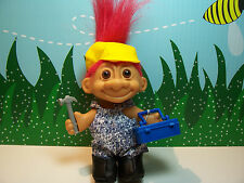 "HANDYMAN / CARPENTER - 5"" Russ Troll Doll - NEW IN BAG - Red Hair"