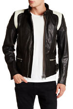 DIESEL L-STONE COW LEATHER JACKET SIZE S 100% AUTHENTIC