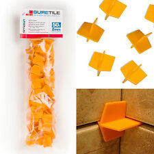 Suretile 50 Pack - 2mm Re-Usable Tile Spacers For Floors & Walls