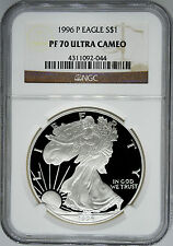 1996-P NGC PF70 Ultra Cameo Proof Silver Eagle
